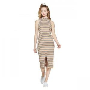 NWT Wild Fable Striped Knit Midi Dress XS Yellow